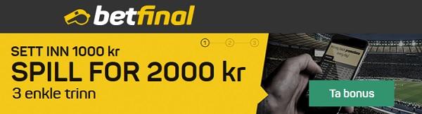 Betfinal ny oddsside helt på norsk