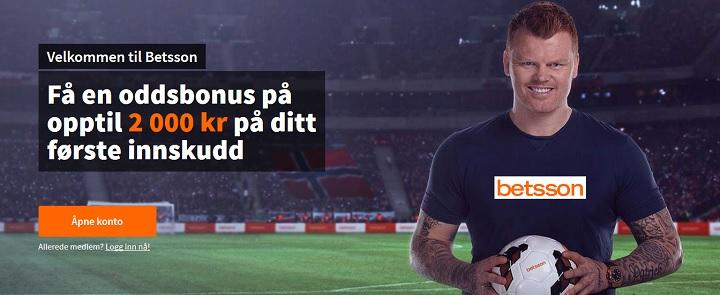 Betsson sin nye oddsbonus 2019