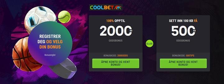Velg din velkomstbonus hos Coolbet